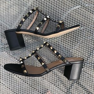 002fc9a2d04 Valentino Shoes - Valentino Rockstud caged 60mm sandal slide 40